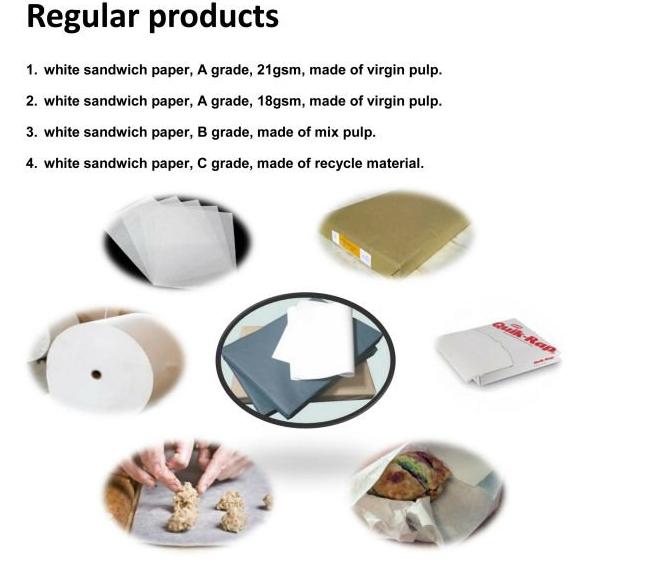 white sandwich paper